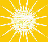 Abstract sun poster. — Stock Vector