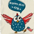 Funny patriotic bird. — Stockvektor