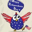 Funny patriotic bird. — Vettoriali Stock