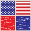 Set of seamless textures with USA Independence Day — Vettoriali Stock