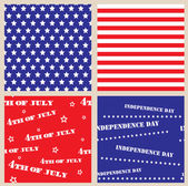 Set of seamless textures with USA Independence Day — Stock Vector
