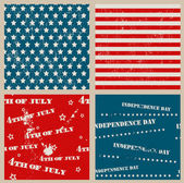 Set of seamless textures with USA Independence Day — Cтоковый вектор