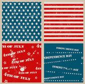Set van naadloze texturen met de dag van de onafhankelijkheid van de verenigde staten — Stockvector