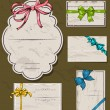 Set of vintage gift bows. — Stockvectorbeeld