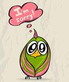 Cartaz com pássaro engraçado. — Vetorial Stock