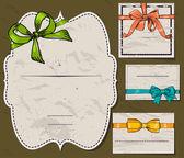 Set of vintage gift bows. — Stockvektor