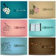 Vintage business cards set. — Vector de stock