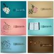 Vintage business cards set. — Stock Vector