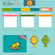 Website template with cartoon birds. — Image vectorielle