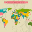 Editable world map with all Countries. — Imagen vectorial