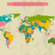 Editable world map with all Countries. — Vettoriali Stock