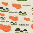 Seamless pattern with autumn elements. — Stok Vektör