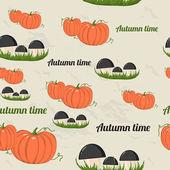 Bezešvé vzor s podzimní prvky. — Stock vektor
