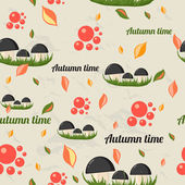 Seamless pattern with autumn elements. — Stock Vector