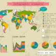 Retro set of infographic elements. — Imagen vectorial