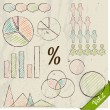 retro set of infographic elements. — Stock Vector