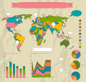 Retro set of infographic elements. — Stock Vector