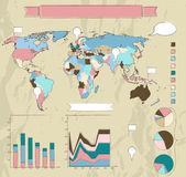 Retrò set di elementi di infografica. — Vettoriale Stock