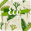 Eco friendly poster. — Stock Vector
