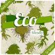 Eco friendly poster. — Stock vektor