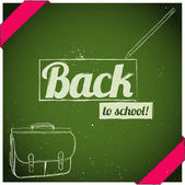 Back to school poster. — Stock Vector