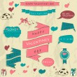 Vector de stock : Set of vintage deign elements about love.