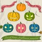 Halloween pumpkins set. — Stock Vector #31401163