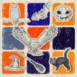 Vintage Halloween poster. — Stockvectorbeeld