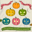 Halloween pumpkins set. — Stock Vector
