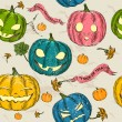 Halloween seamless background with pumpkin. — Stock Vector #31401529