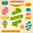Vintage website design elements set. — Stock Vector
