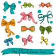 Set of vintage bows. — Vettoriali Stock