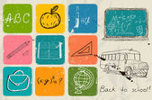 Back to school hand drawing poster. — Stock Vector