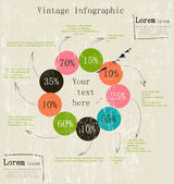 Retro infographic with ink arrows. — Wektor stockowy