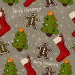 Christmas seamless texture. — Stockvectorbeeld