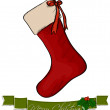 Stock Vector: Christmas sock.