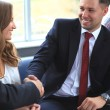 Business shaking hands — Stock Photo