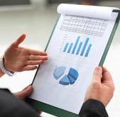 Accounting. Stock market graphs monitoring — Stock Photo