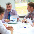 Business meeting - manager discussing work — Stock Photo
