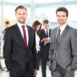 Two business men working together in the office — Stock Photo #19239519