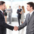 Business shaking hands — Stock Photo #19634723