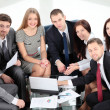 Business team in business meeting — Stock Photo #19635623