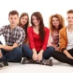 Skupina happy mladých — Stock fotografie