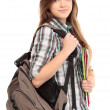 Nice female student smiling — Stock Photo