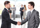Business shaking hands — Photo