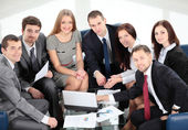 Business-team in business-meeting — Stockfoto