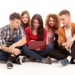 Group of students talking — Stock Photo