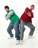 两个年轻的超酷男孩,期待摄影工作室照片 — 图库照片