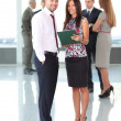 Image of two business partners planning work — Stock Photo