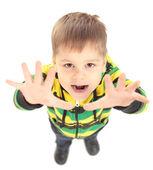 Afbeelding van happyboy verhogen armen — Stockfoto